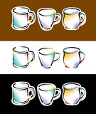 Coffee cup illustration Royalty Free Stock Photos
