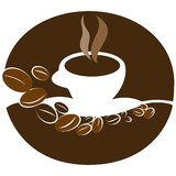 Coffee cup illustration Stock Photos