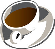 Coffee cup illustration Royalty Free Stock Images