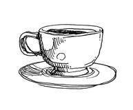 Coffee cup illustration Royalty Free Stock Photography