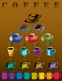 Coffee Cup Illustration Set Royalty Free Stock Photos