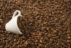 Free Coffee Cup Into Coffee Stock Image - 13161491
