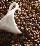 Coffee Cup Into Coffee