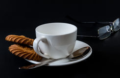 Coffee Cup isolated on black background Royalty Free Stock Images