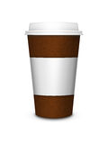 Coffee cup isolated over white background Stock Images