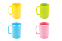 Coffee cup isolated. Pastel coffee cup isolated on white background Royalty Free Stock Photos