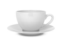 Coffee Cup Isolated on White. Stock Photos