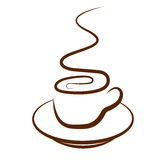 Coffee Cup. A cup of coffee In Isolated White Background Royalty Free Stock Photography