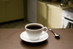 Coffee cup in kitchen Stock Image