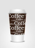 Coffee cup with label Royalty Free Stock Images