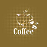 Coffee cup label concept menu Royalty Free Stock Photos