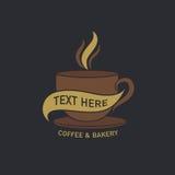 Coffee cup label concept menu Stock Image