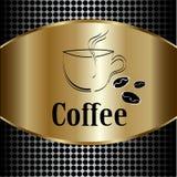 Coffee cup label concept menu Stock Photos
