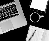 Coffee cup and laptop for business. Royalty Free Stock Photography