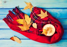 Autumn Coffee cup Stock Images