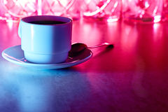 Coffee cup with light Royalty Free Stock Photography