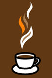 Coffee cup logo Royalty Free Stock Photos
