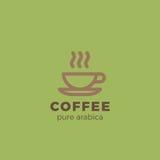 Coffee cup Logo design Linear. Hot Drinks Tea  Stock Photos