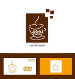 Coffee cup logo icon set Stock Photo