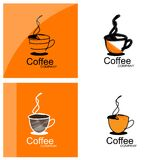 Coffee cup logo set Stock Image