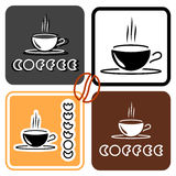 Coffee cup logo set Royalty Free Stock Image