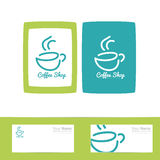 Coffee cup logo Stock Photography