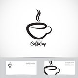 Coffee cup logo Royalty Free Stock Photo