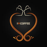 Coffee cup love concept background Stock Photography