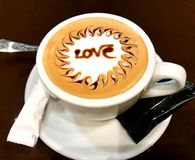 Coffee cup with love Royalty Free Stock Image