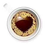 Coffee cup love heart Stock Photos