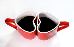 Coffee cup love. On white background Stock Image