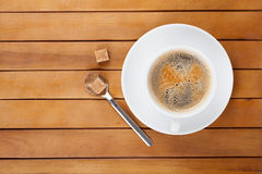 Coffee cup with lump sugar Royalty Free Stock Image
