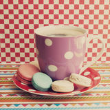 Coffee Cup And Macaroons Royalty Free Stock Images