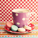 Coffee Cup And Macaroons Royalty Free Stock Photos