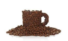 Coffee cup made of beans Stock Image