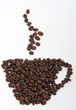 Coffee Cup Made of Coffee Beans Royalty Free Stock Photos