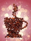 Coffee cup made of coffee beans Royalty Free Stock Photography