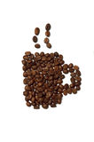 Coffee cup made of coffee beans Stock Photos