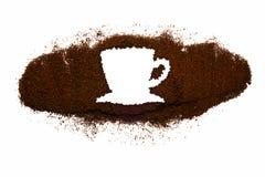 Coffee Cup made of coffee. Coffee Cup made from Coffee on white isolated background Stock Photo