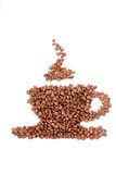 Coffee cup made out of coffee beans Stock Photography