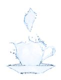 Coffee cup making from water splash Stock Photography