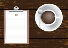 The Coffee Cup and Memo Paper Royalty Free Stock Images