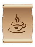 Coffee cup- menu Royalty Free Stock Photography
