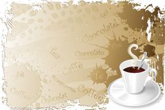 Coffee Cup Menu-2. A Cup of Coffee Background Royalty Free Stock Images