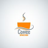 Coffee cup menu background Royalty Free Stock Photography