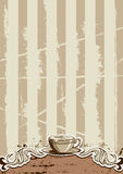 Coffee Cup Menu Stock Photo