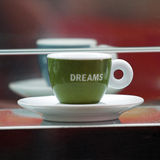 Coffee cup with message Stock Photography