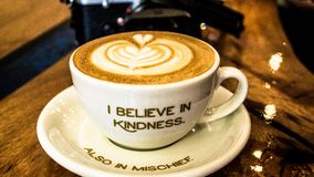 Coffee cup with message Stock Images