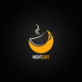 Coffee cup moon concept background Royalty Free Stock Photo