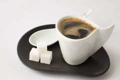 Coffee cup. A cup of coffee in the morning gives vivacity for the whole day Stock Photography